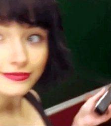 Electric chastity fun selfie