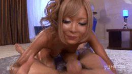 Ganguro babe enjoys a dick.