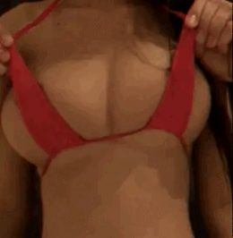 Hot big boobs being touched in bikini