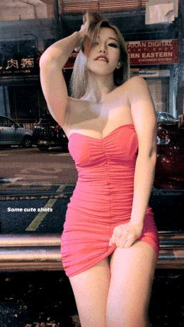 Hot Malaysian Blonde Seductive Red Dress Hot Legs Animation