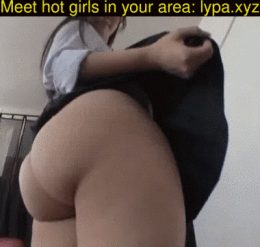 Japanese babe shows off her booty under her skirt