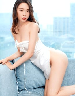 Seductive Chinese Beauty White Lingerie from Beijing