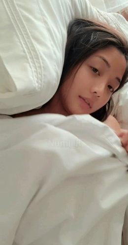 Shy big boobs Asian babe