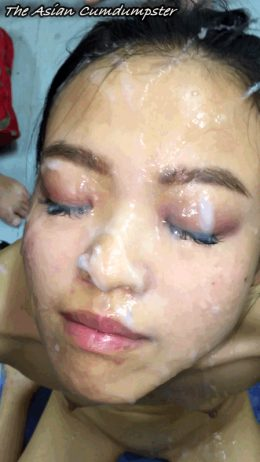 The Asian Cumdumpster – Jizz Blasted Right Between the Eyes!
