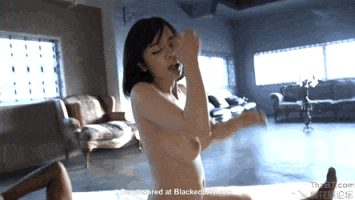 Beautiful, Busty, Japanese riding and sucking Black cock