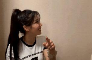 Busty Korean Teen Kwon Eunbi (IZONE) tight shirt tits ready to burst out