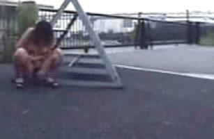 Long Distance Squatting Asian Chick Pisser