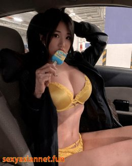 Malaysian Beauty Mammoth Sized Boobs Eating A Popsicle Animation