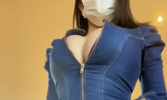 Maria Nagai jeans dress cleavage