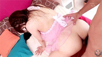 Petite Asian in pink dress