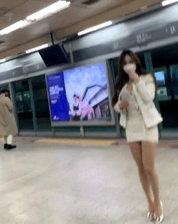 Tetona japonesa en el metro